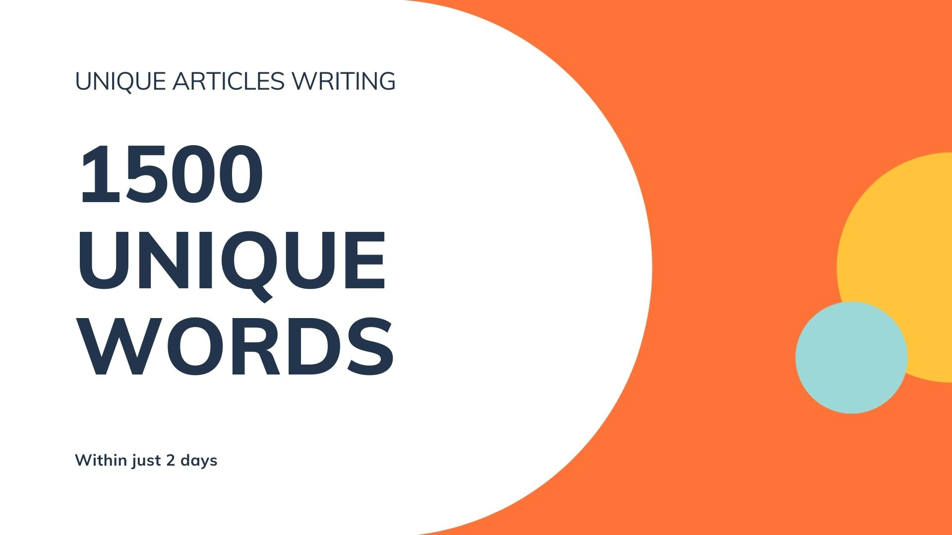 1500 Words Well-researched Article For Blog or Website