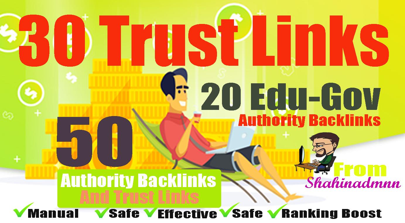 30 PR9-7+ 20 EDU-GOV Backlinks From Authority Domains