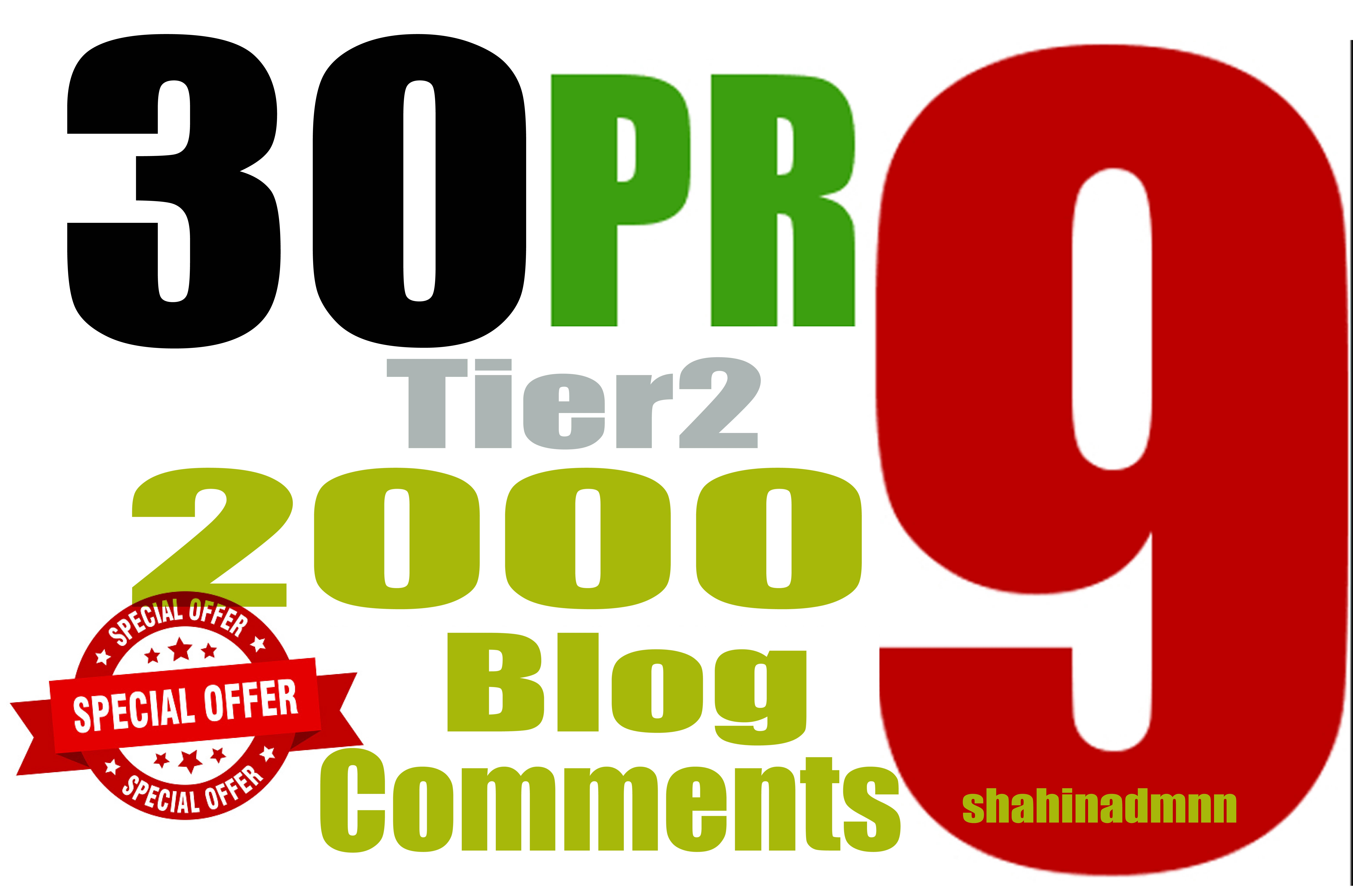 Increase your YouTube Rank in Google with 30 PR9 SEO Backlinks With 2,000 Tier2 Blog comments