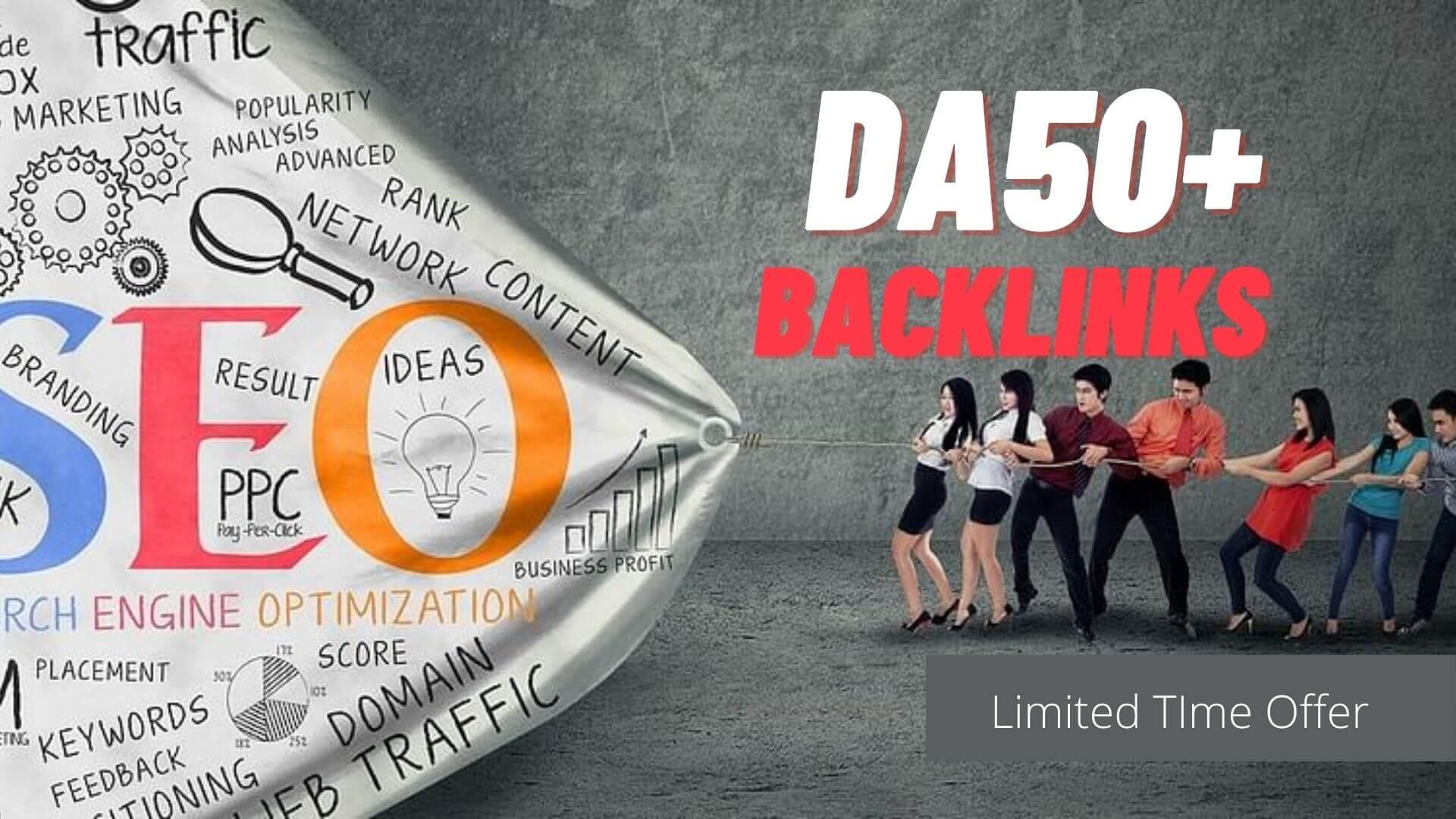 All DA50+ Backlinks 130+ Manual PR7 to PR10 Authority Links to improve SERP