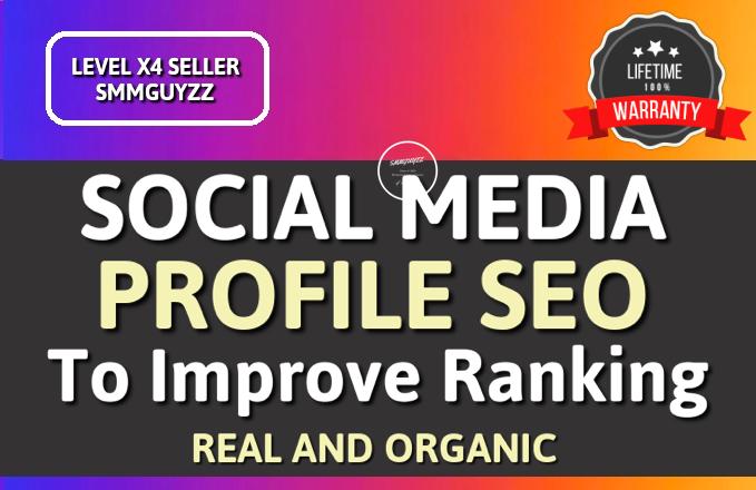 I Will Do SEO For Your Social Media To Improve Ranking
