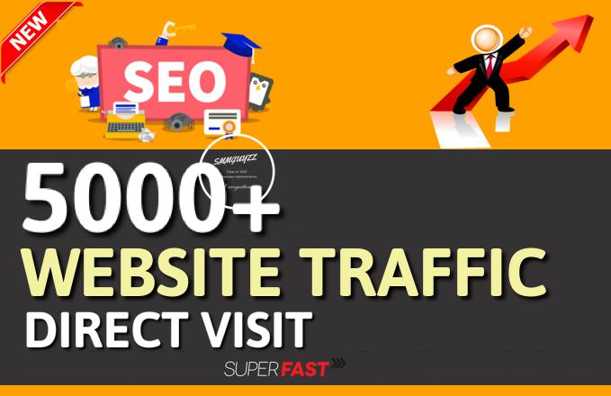 Get 5000+ Real Website Traffic - DIrect Visit