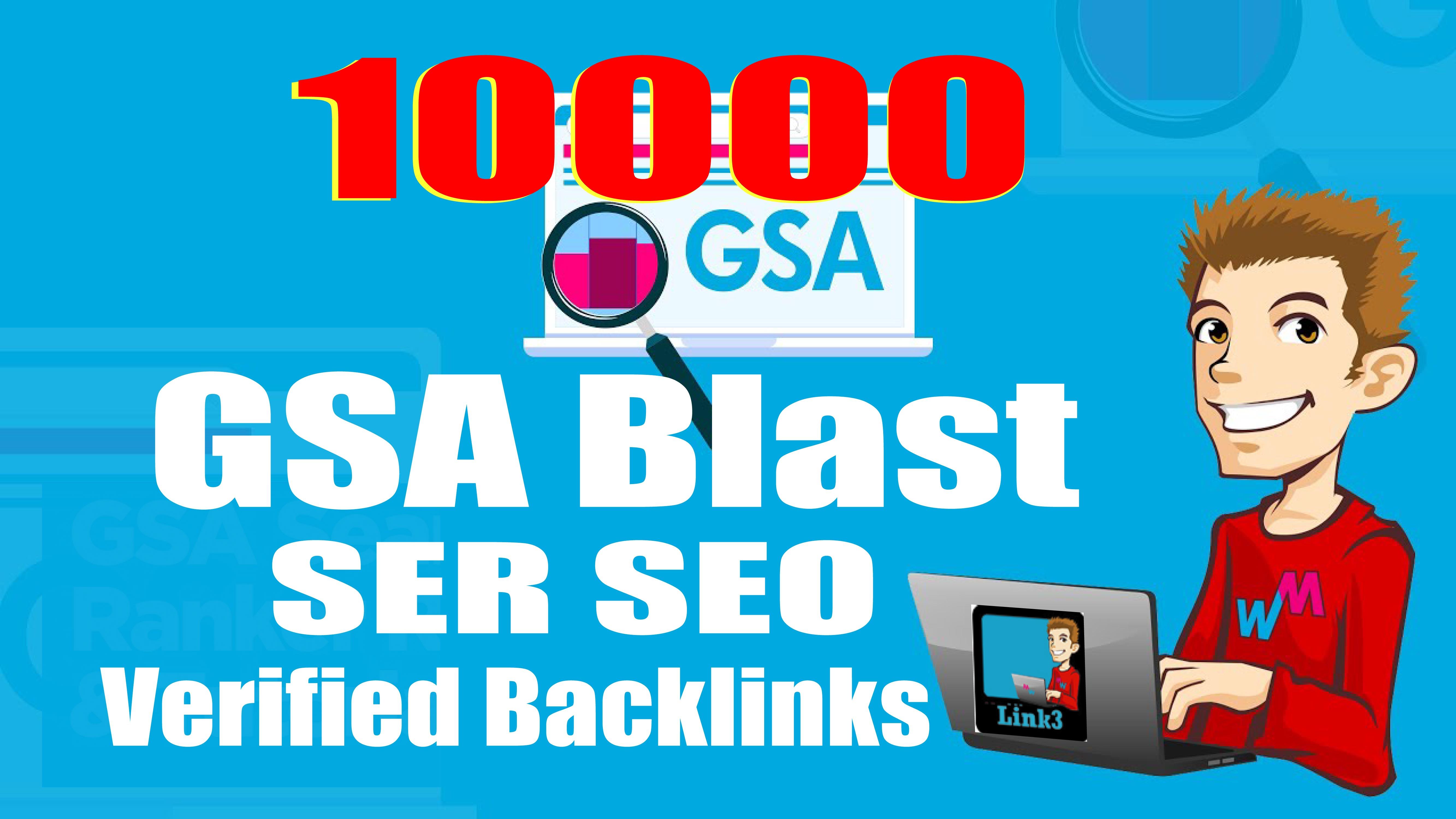 5x Order - 10000 GSA SER Backlinks easy Link Juice and Faster Index,  Best For Tier2 or Tier3 Links
