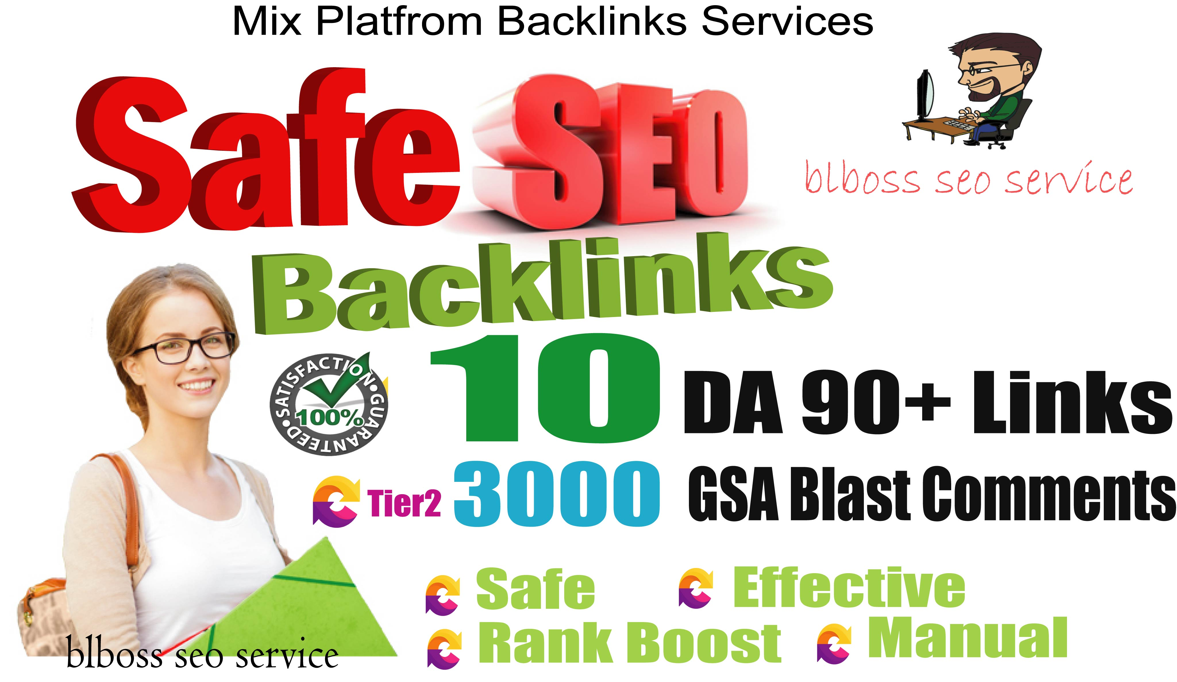 10 PR 9 Safe SEO Backlinks Drive to your Google rank DA 90+ Backlinks, With 3000 Tier2 Blog Comments