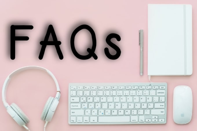 I will write frequently asked questions faqs page for online store or website