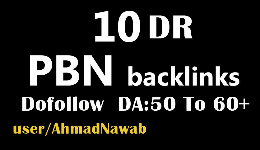 create 10 DR 50 plus homepage pbn backlinksv