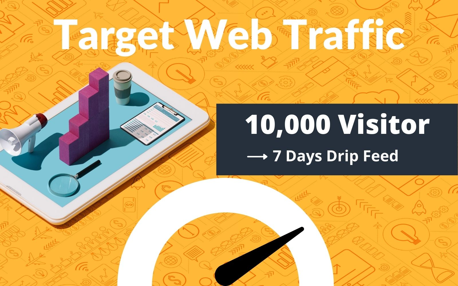 10,000 TARGETED Real Visitors for 7 days to your website