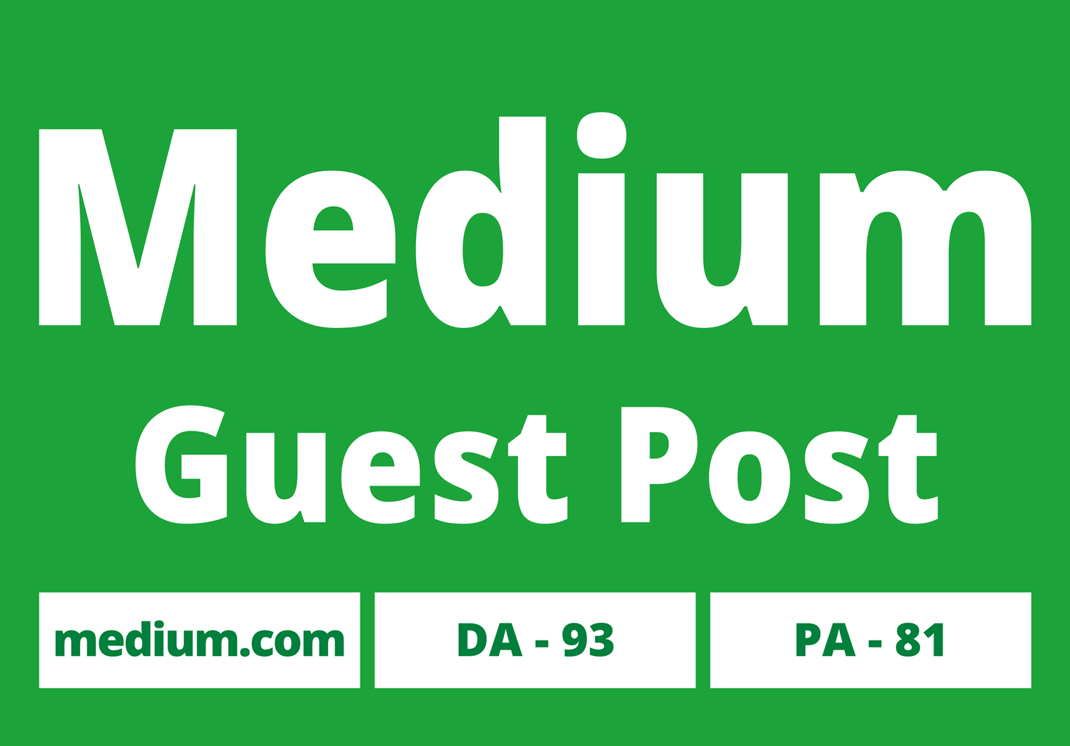 I will publish 2 Guest Posts with your website on Medium