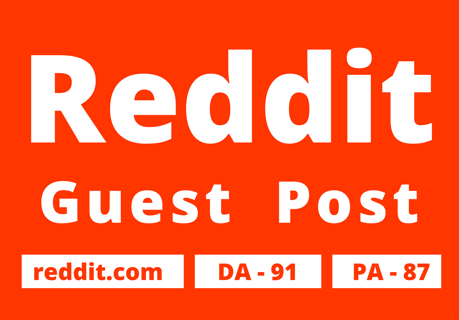 I will publish 2 Guest Posts with your website on Reddit