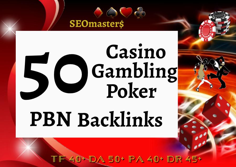 50 PBN for Casino Poker Judi bola Football Betting Slot online - All Gambling website
