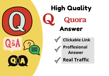 I will Provide High Quality 30 Quora Answers with unique articles for your website.