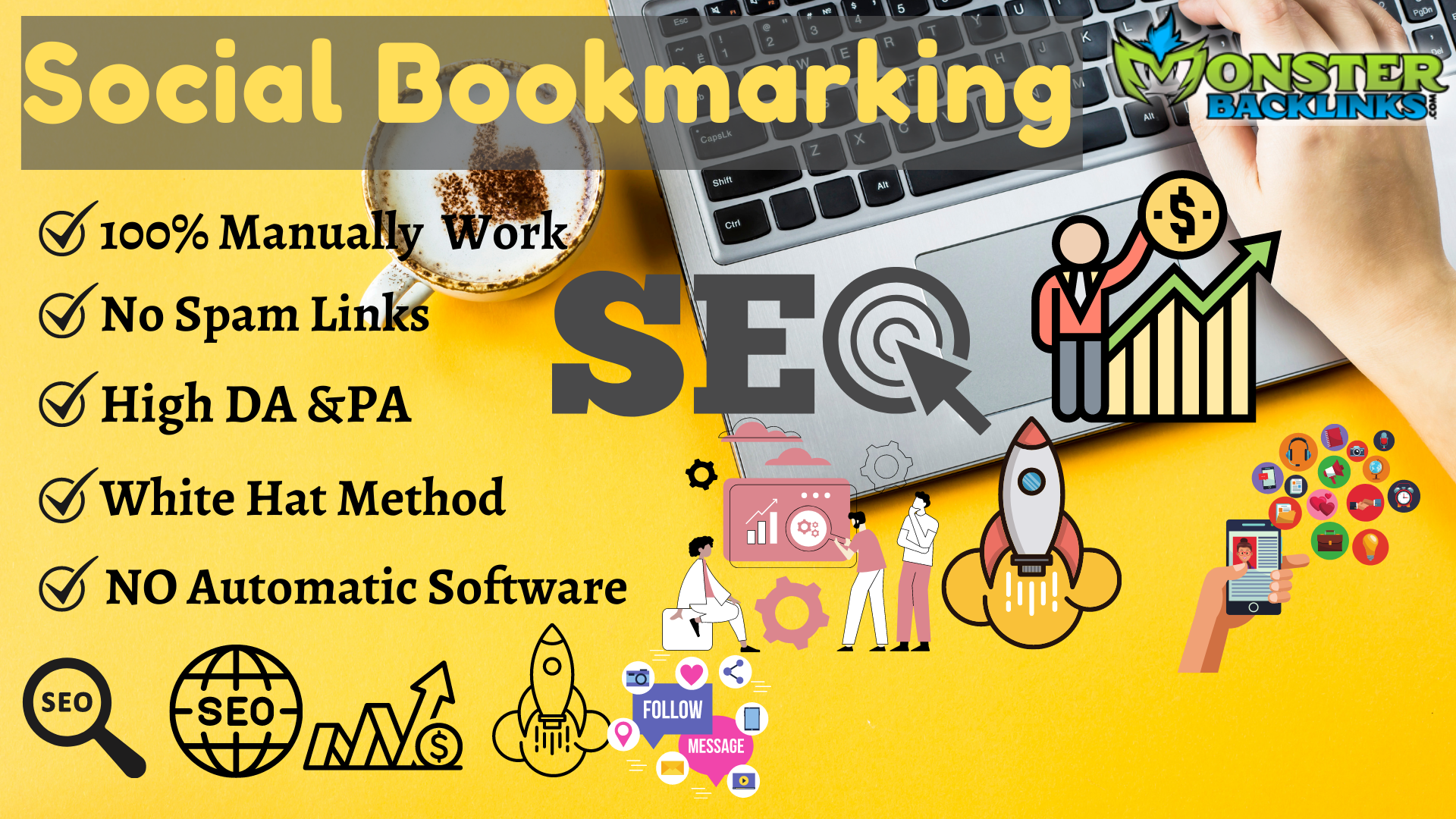 150 Social Bookmarking With High-Quality Backlinks Ranks Your Website.