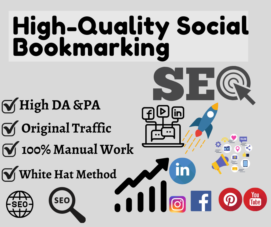 I will provide the top 30 High-Quality Social Bookmarking To Rank Your Website.