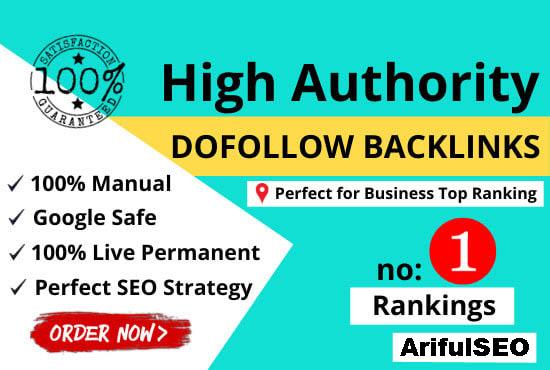 I will create 500 manual high da permanent dofollow backlinks off page SEO