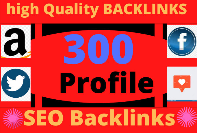 I will do 300 unique domain off page SEO profile backlinks