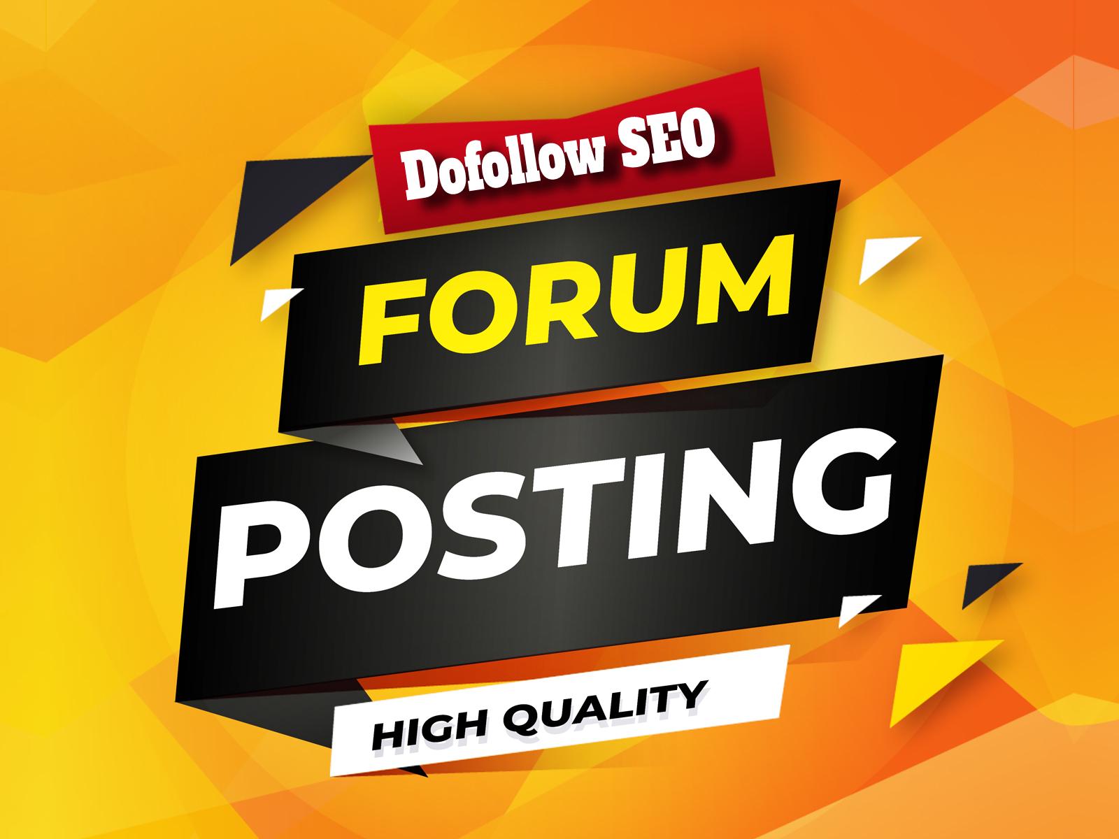 Boost Site Alexa Rank with 500 Forum Posting SEO backlinks