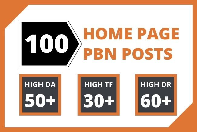Get High Quality Moz Authority,  100 HomePage Dofollow PBN Backlinks To Improve Your Website Ranking