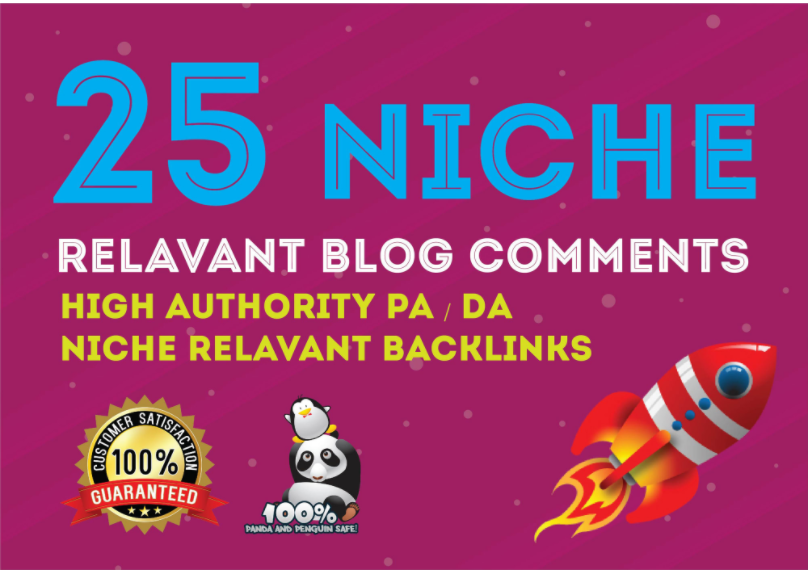 I will make 25 high quality niche relevant blog comments backlinks