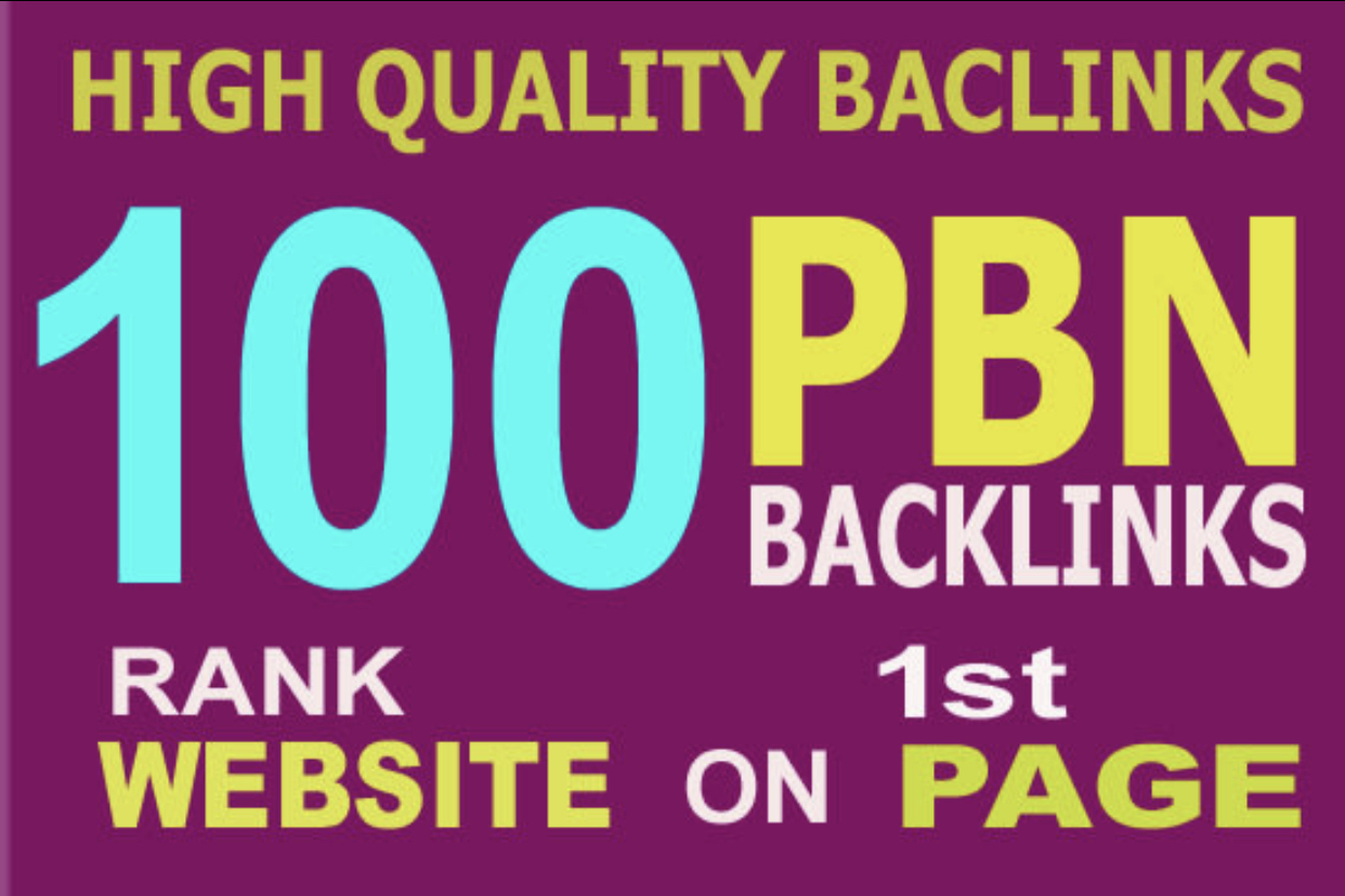 I will 100 PBN DA 30 TO 40 HomePage high quality permanent Dofollow backlinks