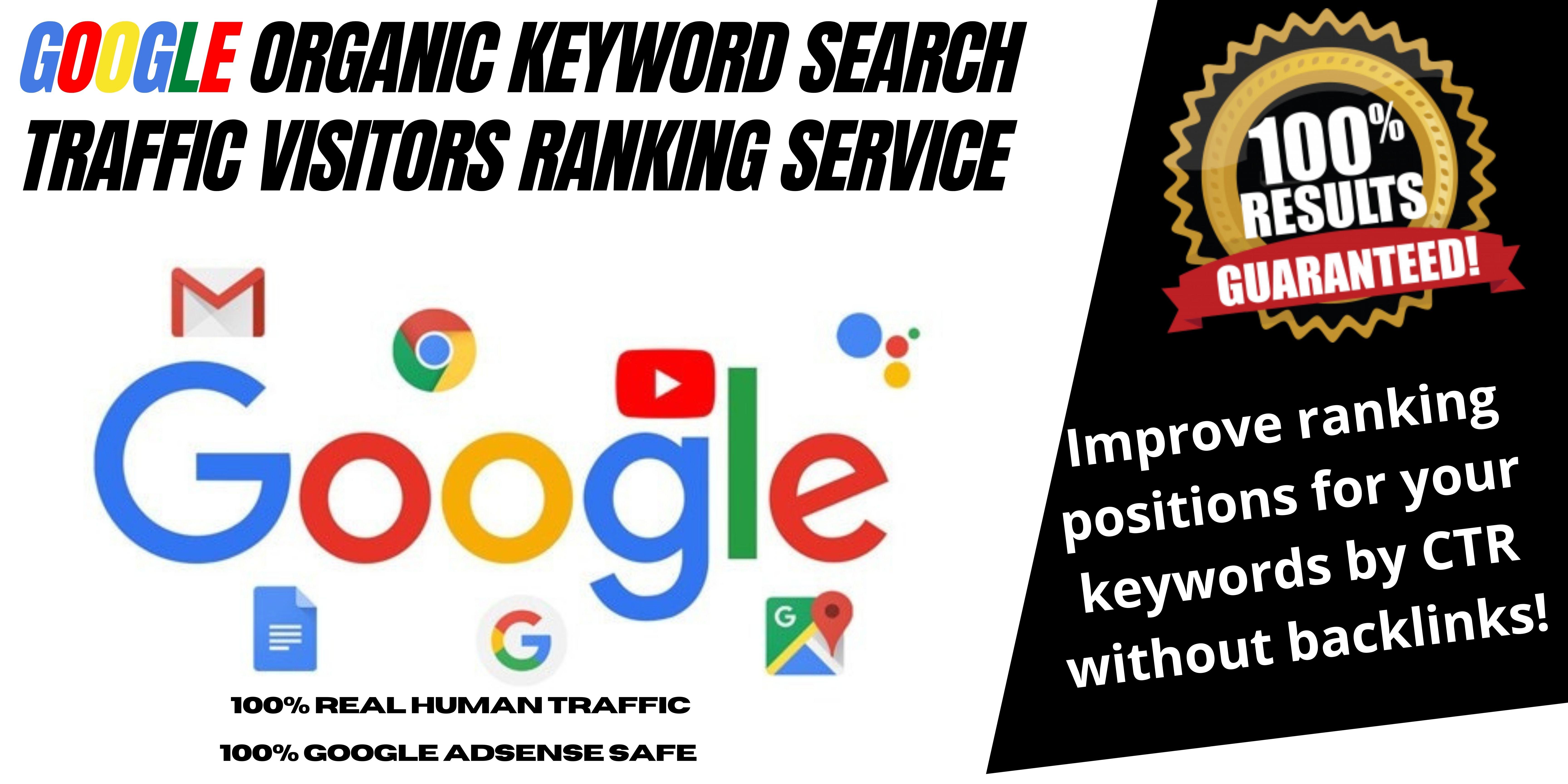 Google Keyword Targeted Website Traffic Visitors Organic SERP Ranking Service