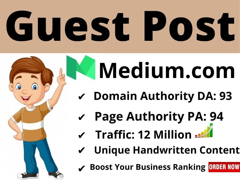 I will write Unique content & publish High Quality guest post on Medium com with permanent backlinks