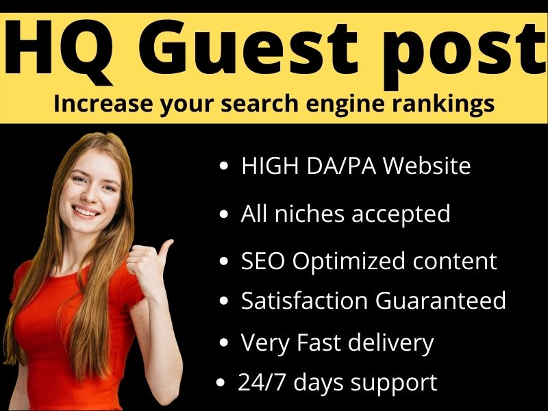 Write & Publish 5 niche related guest post 80+ blogs with permanent backlinks