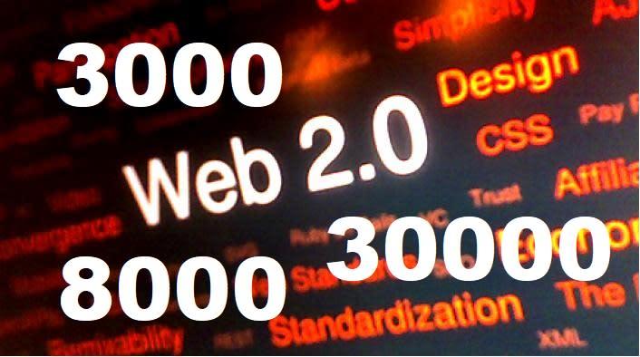 I will build 3000 web 2 0 backlinks