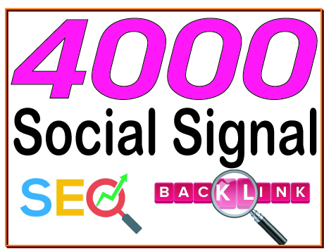 4000 HQ Social signal PR7 to PR10 Backlinks Boost SEO Ranking