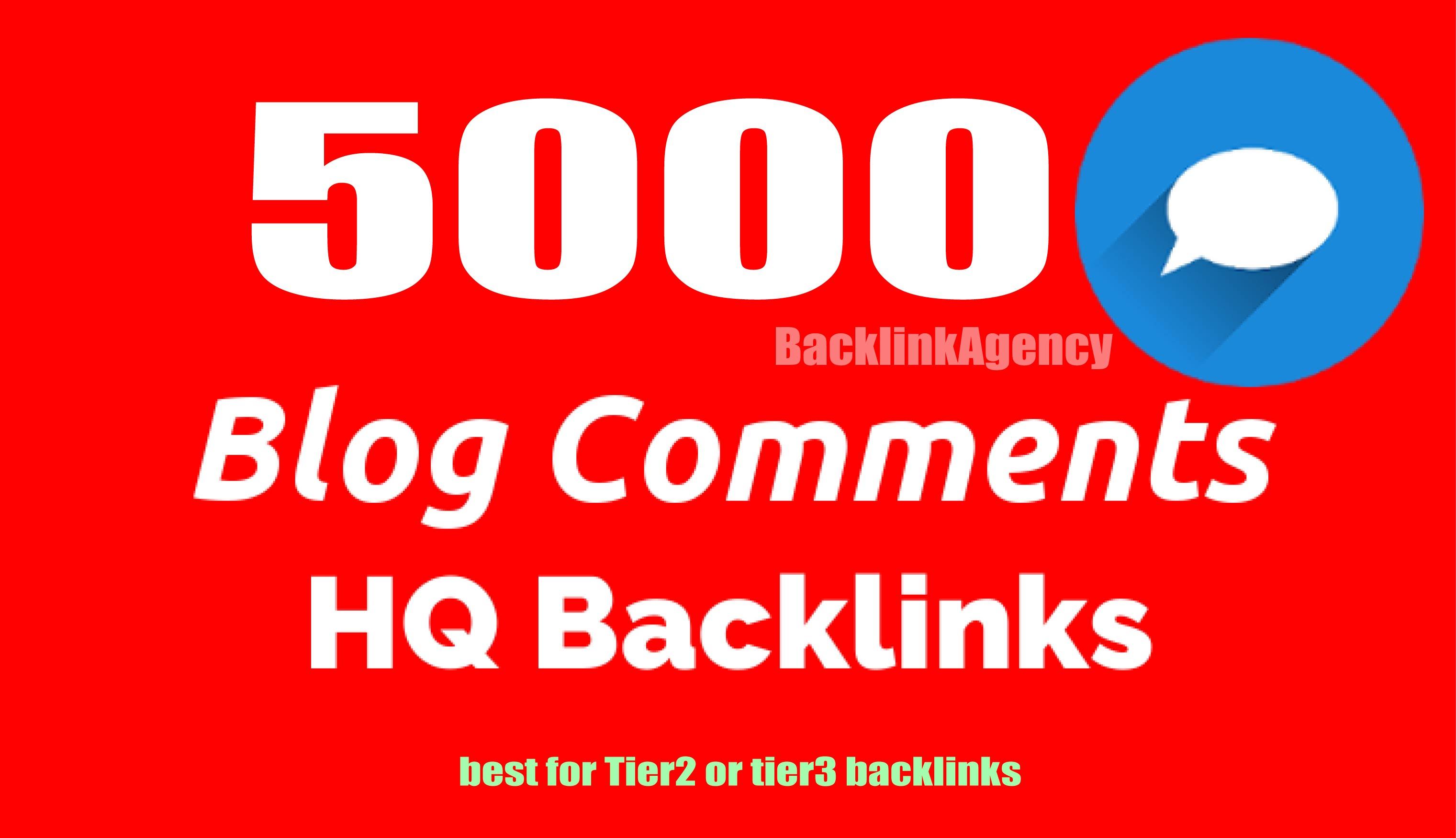 5000 blog comments HQ backlinks for SEO Rank Now,  Youtube,  Business,  website, blog,  social media etc.