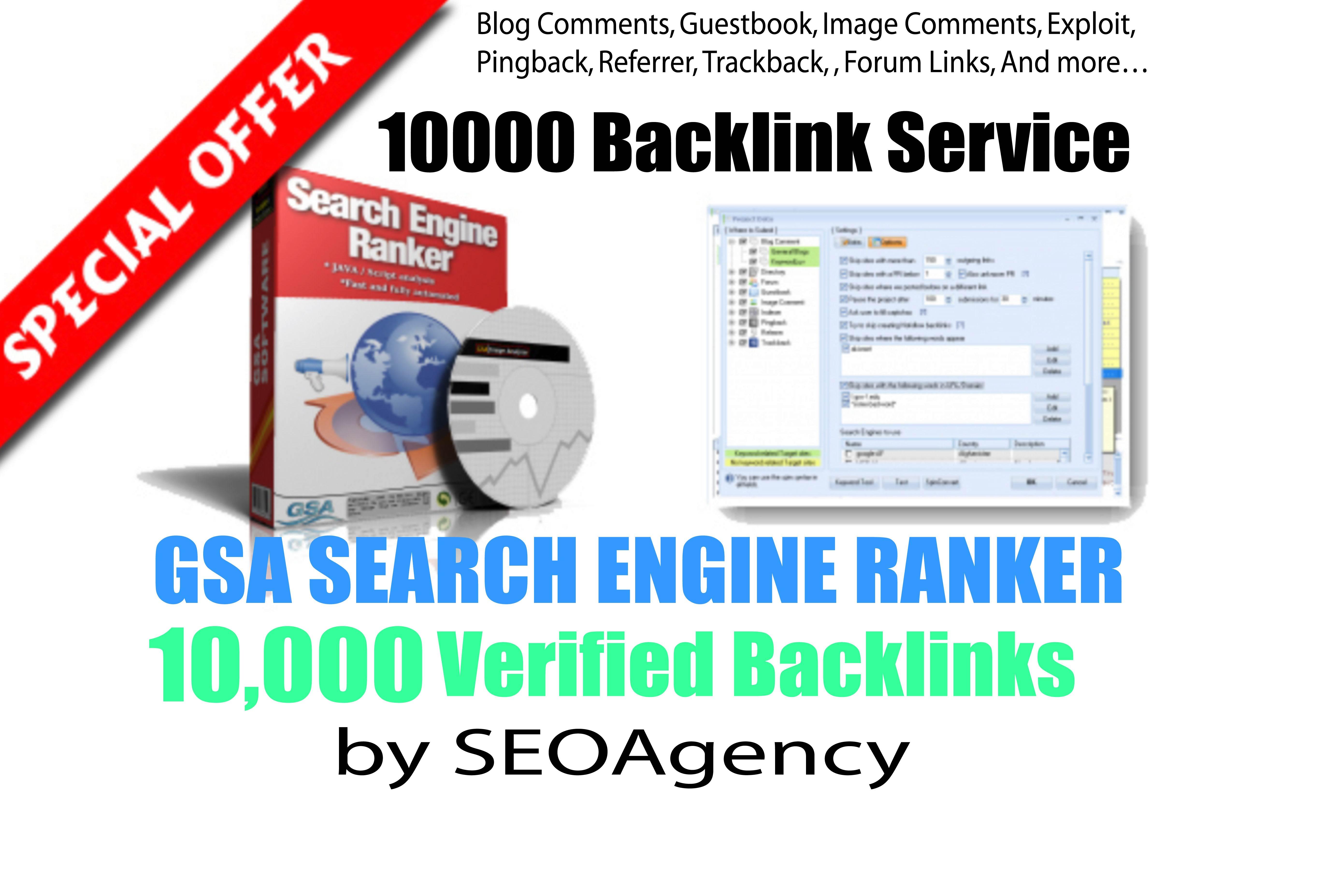 5x order - Create 10,000 GSA Backlinks & GSA Blast