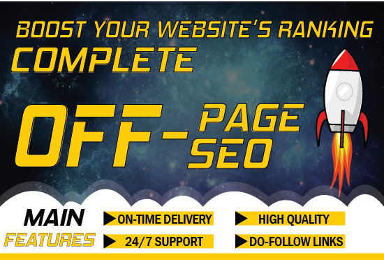 I will do off page seo service with high quality strong backlinks