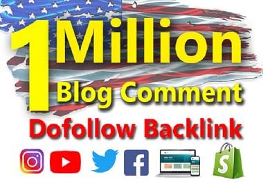 I will do 1 million live check dofollow blog comment backlink blast