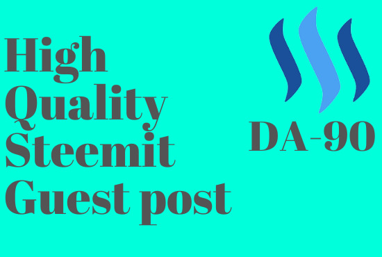 I will write and publish high-quality DA-PA guest post on steemit.com