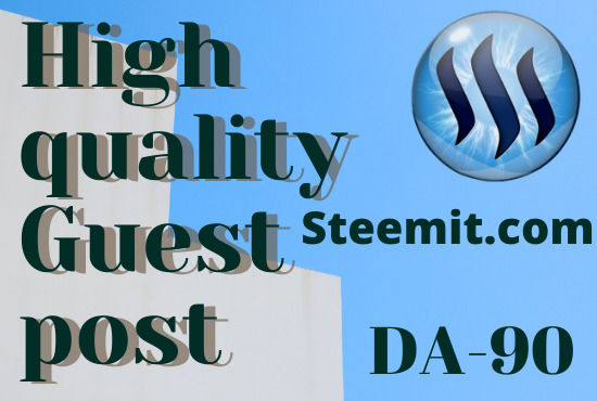 I will write and publish high-quality DA-PA guest post on steemit. com