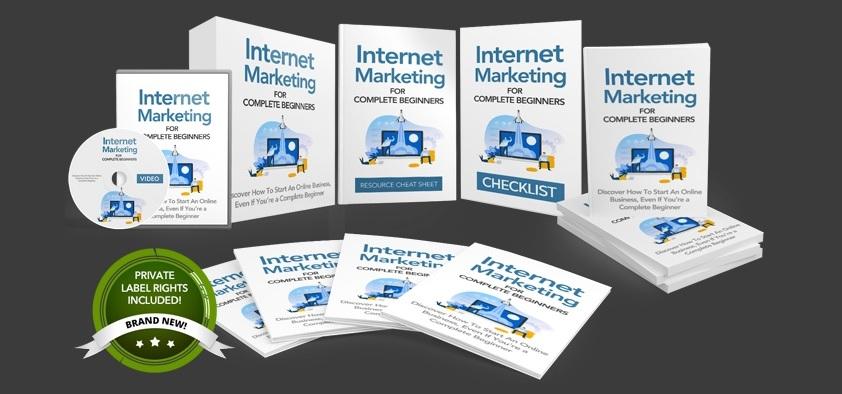 Complete Internet Marketing For Complete Beginners Full PLR Pack