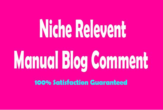 50 Unique Domains Niche Relevant Blog Comment Seo Backlinks