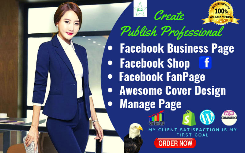 I will do facebook business page creation,  business page setup,  cover design