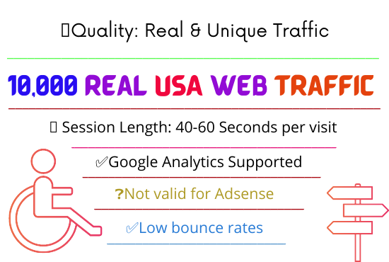 Get 10,000 USA Real & Unique Traffic