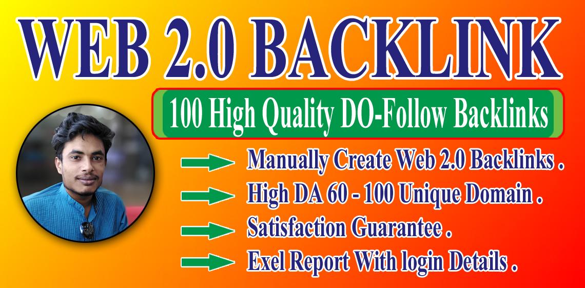 I will do web 2 0 backlinks manually