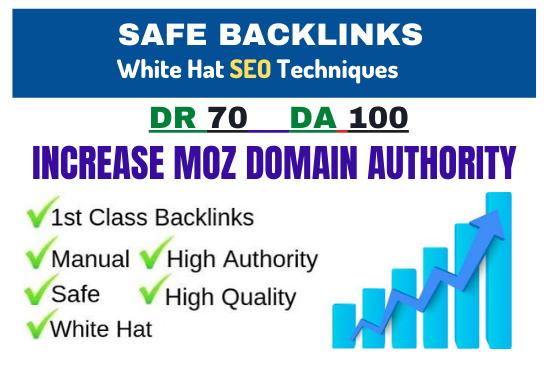 I will increase domain authority moz da 80 high quality SEO backlinks