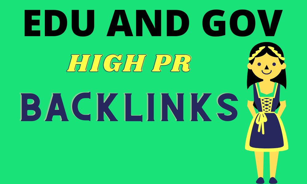 Provide 20 Edu/GOV high quality backlinks improves SEO in 2021