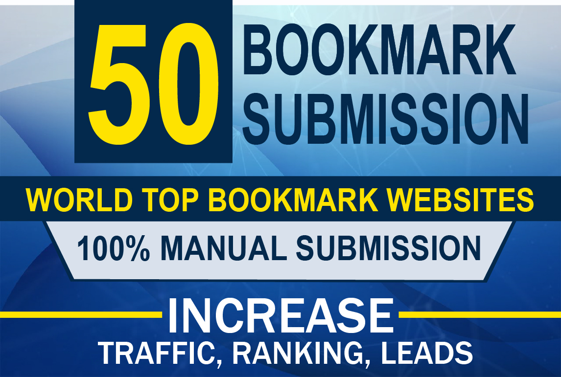 I will build manually 50 bookmark submission backlinks high pa da cf tf