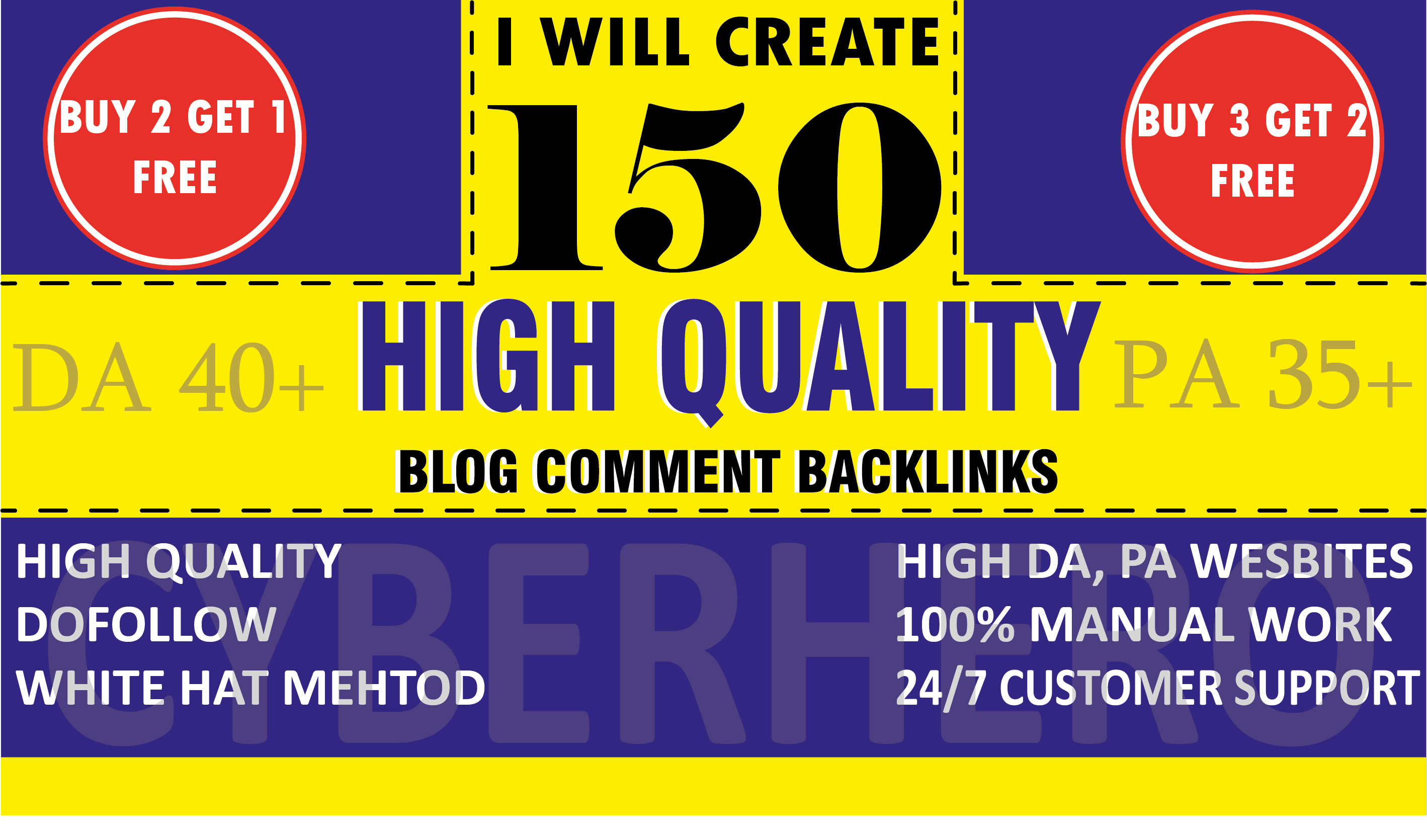 I will Create 150 Unique Dofollow Blog Comments On Actual Page