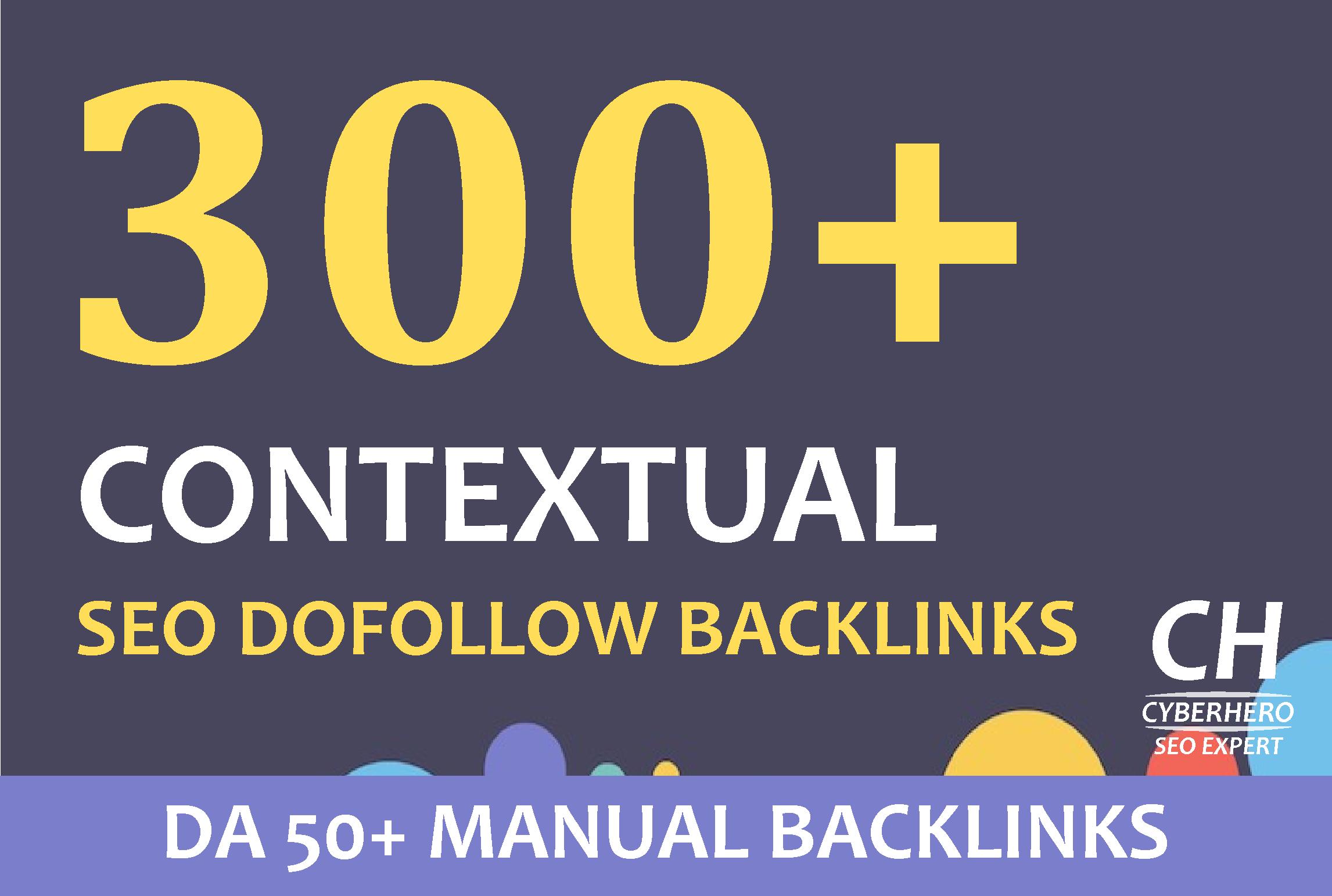 I will make 300 Contextual SEO dofollow backlinks white hat seo with unique content