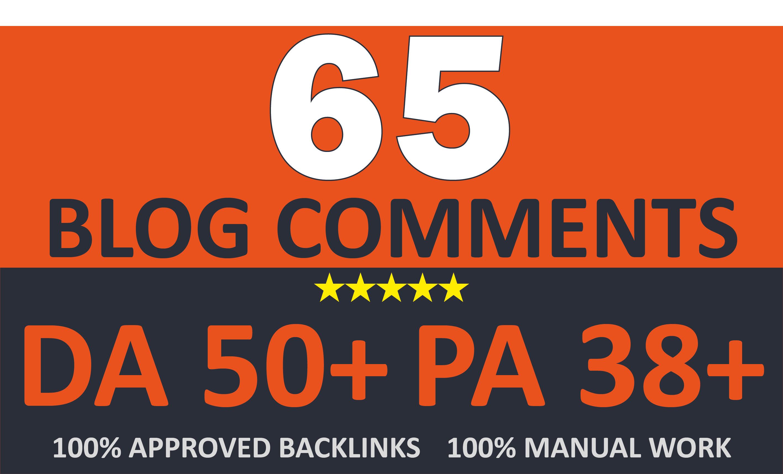 Create 65 UNIQUE DOFOLLOW Blog Comments On DA 50+ Sites