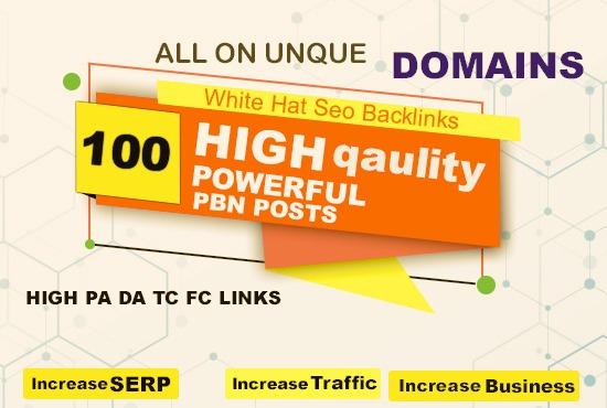 Permanent 100 Contextual Backlink from high DA 20-30+ / TF 15-25+Web2.0 PBN