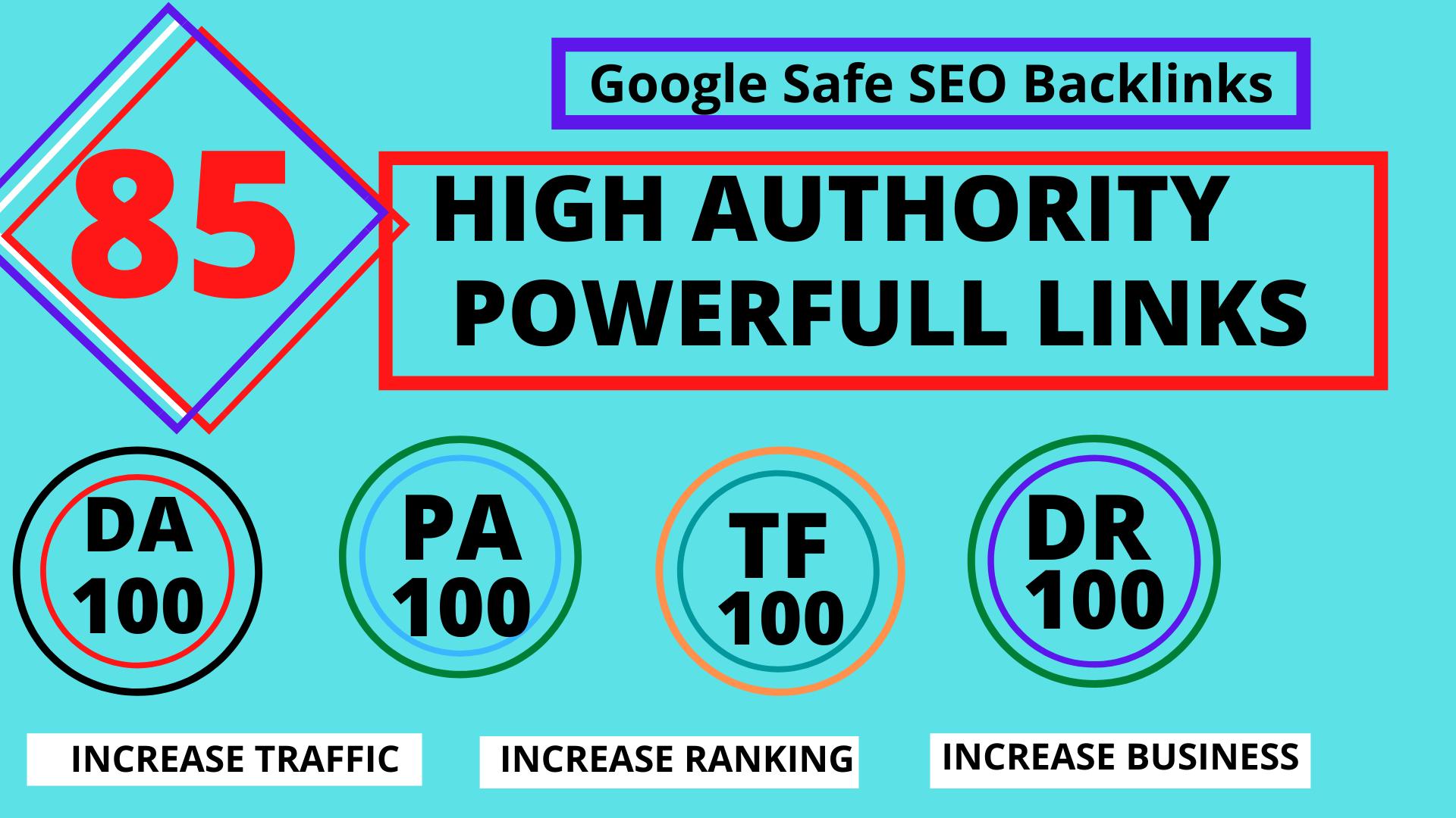 TOP OFFER-Build 85 Unique Domain SEO Backlinks On TF100 DA100 Sites for