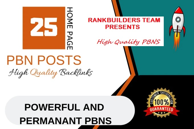 Build 25 Permnent PBN Homepage Backlinks,  High Metrics Aged Dofollow Quality Links