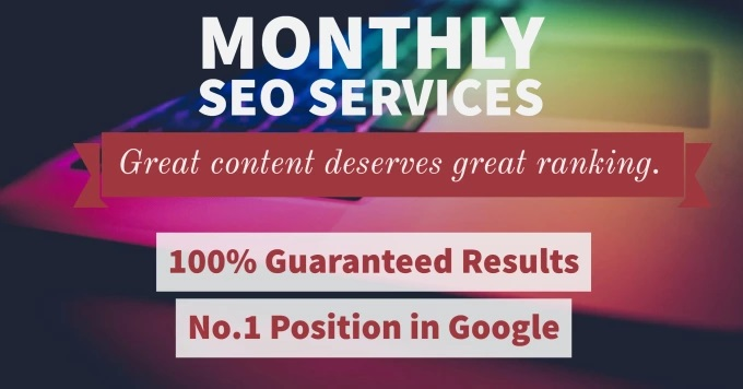Monthly SEO Service with Guaranteed Page 1 Ranking