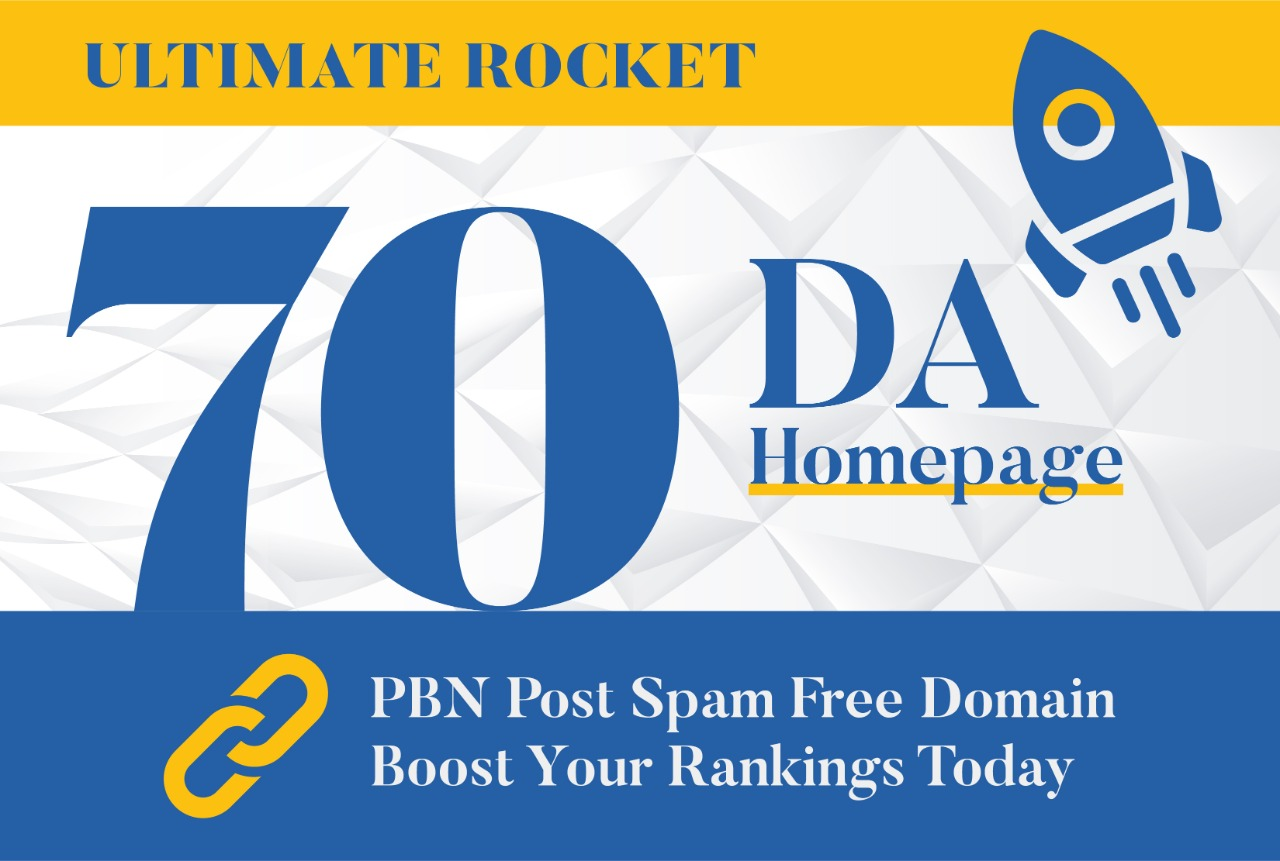 Build 1 DA70+ Ultimate Powerful PBN Homepage BACKLINKS